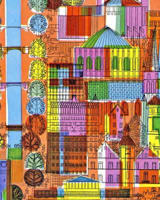 Town Illustration and Clipart - Obrázkek zdarma pro Nokia 206 Asha