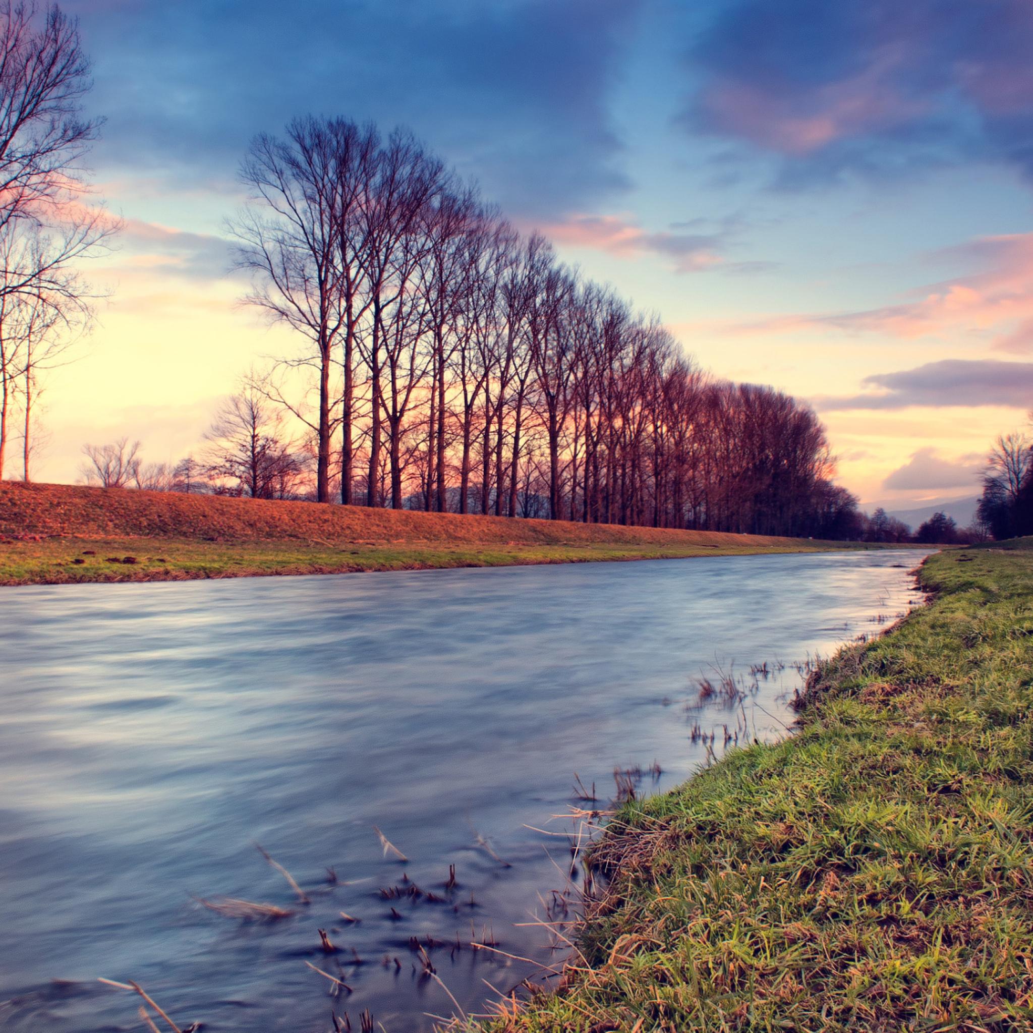 небо, вода, деревья  № 2487146  скачать