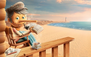 Free Old Pinocchio Picture for Android, iPhone and iPad