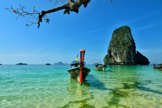 Railay Island Thailand Background for Android, iPhone and iPad