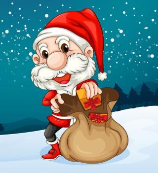 Happy Santa - Obrázkek zdarma pro 1024x1024