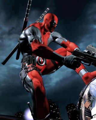 Deadpool Superhero Film - Obrázkek zdarma pro Nokia Asha 300