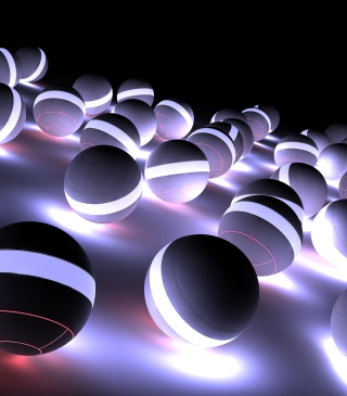 Spherical Balls - Obrázkek zdarma pro Nokia Asha 502