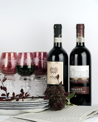 Chianti Wine from Tuscany region - Obrázkek zdarma pro 480x854