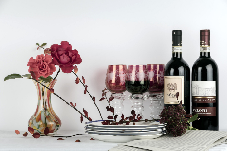 Chianti Wine from Tuscany region wallpaper