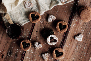 Heart Cookies Wallpaper for Android, iPhone and iPad
