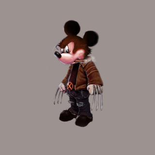 Mickey Wolverine Mouse - Obrázkek zdarma pro 208x208
