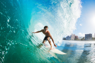 Catching Big Wave Background for Android, iPhone and iPad