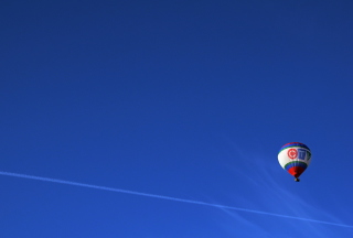 Balloon In Blue Sky Wallpaper for Android, iPhone and iPad