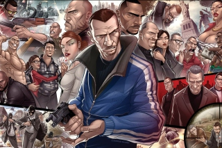 Grand Theft Auto Characters Background for Android, iPhone and iPad