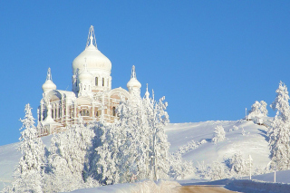 Winter Church Background for Android, iPhone and iPad