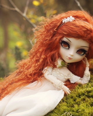 Curly Redhead Doll - Obrázkek zdarma pro Nokia Asha 308