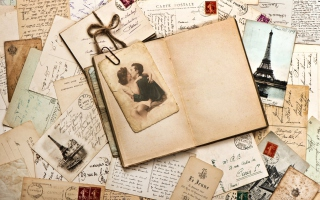 Vintage Letters Picture for Android, iPhone and iPad