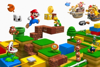 Super Mario 3D - Obrázkek zdarma pro Samsung Galaxy Tab 4 7.0 LTE