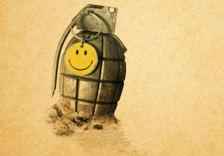 Yellow Smile Background for Android, iPhone and iPad