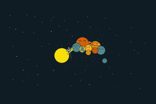 Sun And Planets Funny Picture for Android, iPhone and iPad