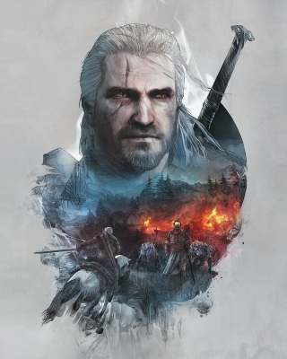 Geralt of Rivia Witcher 3 - Obrázkek zdarma pro Nokia Asha 502
