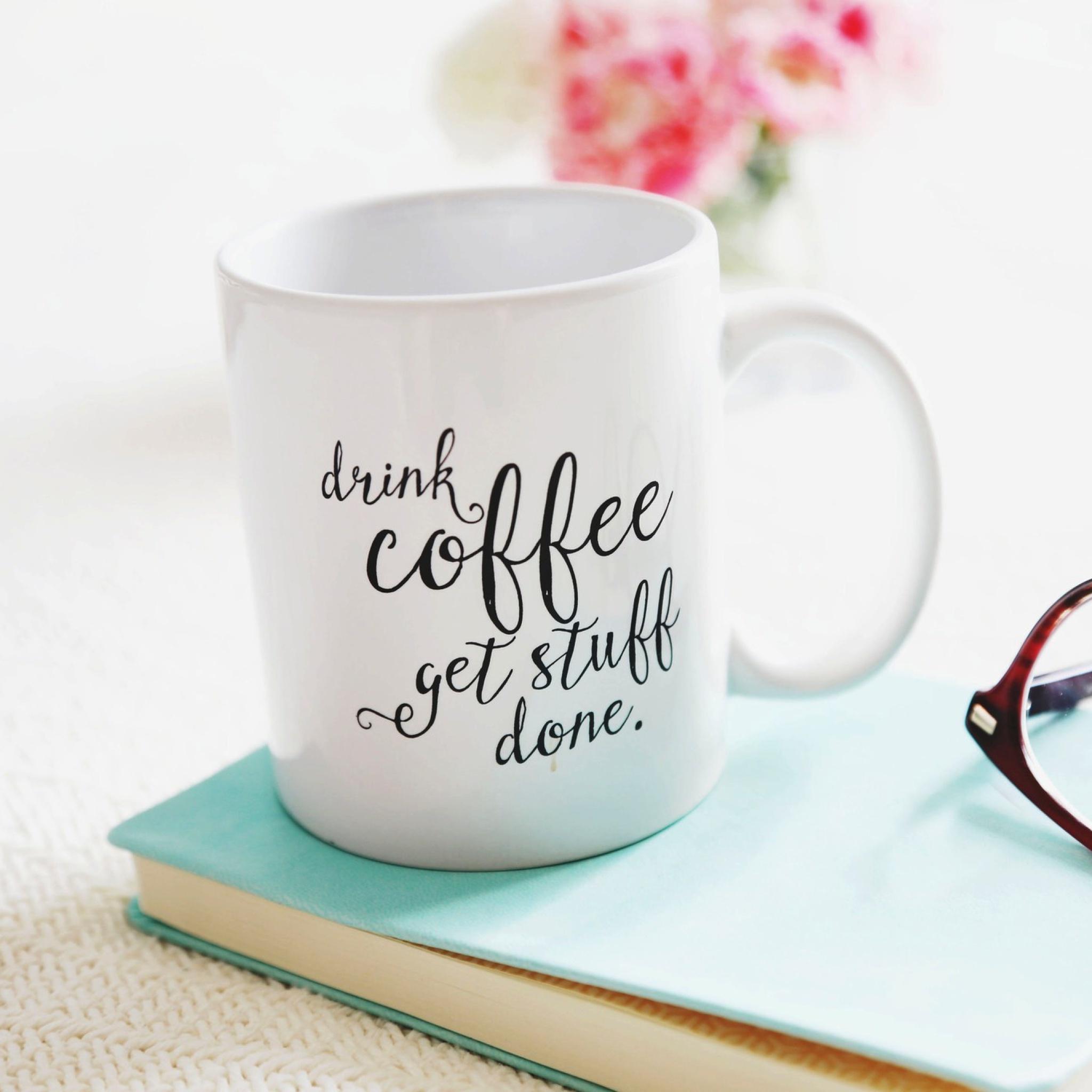 чашка кофе записка  № 2119594 без смс