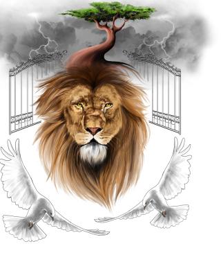 Lion Painting - Obrázkek zdarma pro iPhone 6