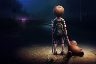 Free Lonely Child Picture for Android, iPhone and iPad