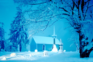 Free Winter Church and Chapel Picture for Android, iPhone and iPad