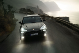 Porsche Cayenne Turbo Background for Android, iPhone and iPad