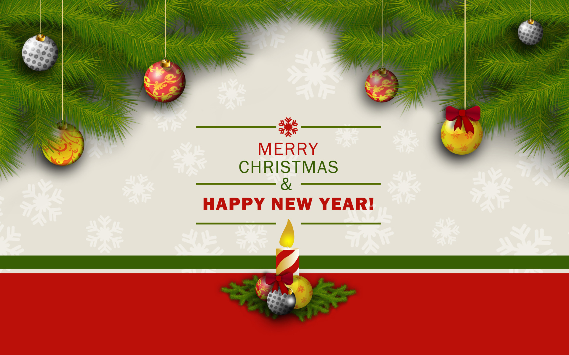 Merry Christmas And Happy New Year 2015 4k Hd Desktop: Merry Christmas And Happy New Year Wallpaper For