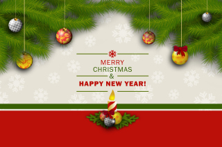 Merry Christmas and Happy New Year Background for Android, iPhone and iPad