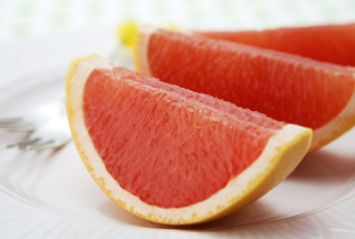 Grapefruit Slices Wallpaper for Android, iPhone and iPad