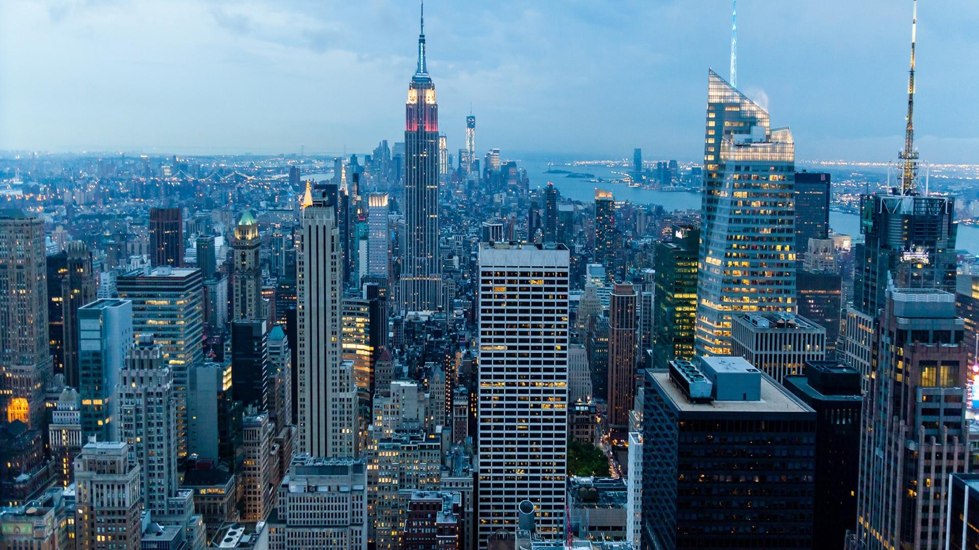 New york lights wallpaper for desktop 1920x1080 full hd for Sfondi new york hd