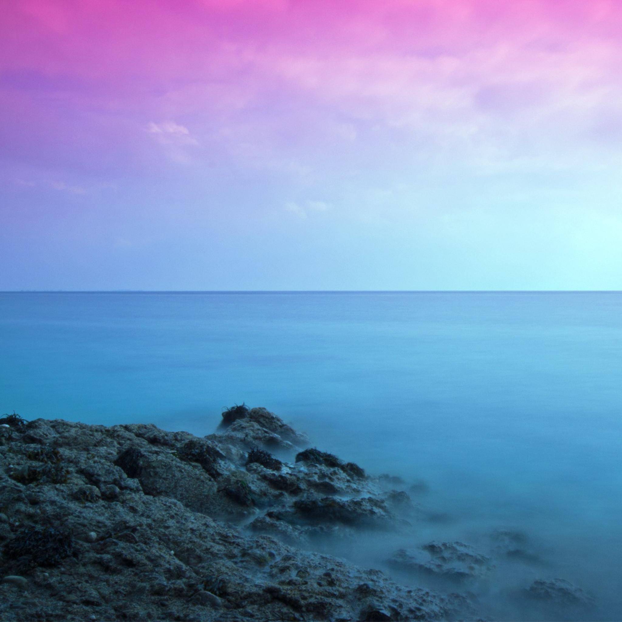 горизонт камни море вода океан природа  № 2556171 бесплатно