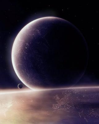 Moon in space - Obrázkek zdarma pro 132x176