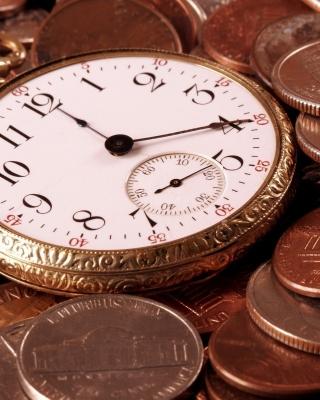 Dollar Cents and Watch - Obrázkek zdarma pro 240x432