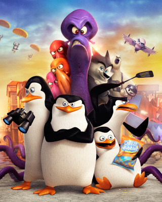 The Penguins of Madagascar 2014 - Obrázkek zdarma pro Nokia C-Series