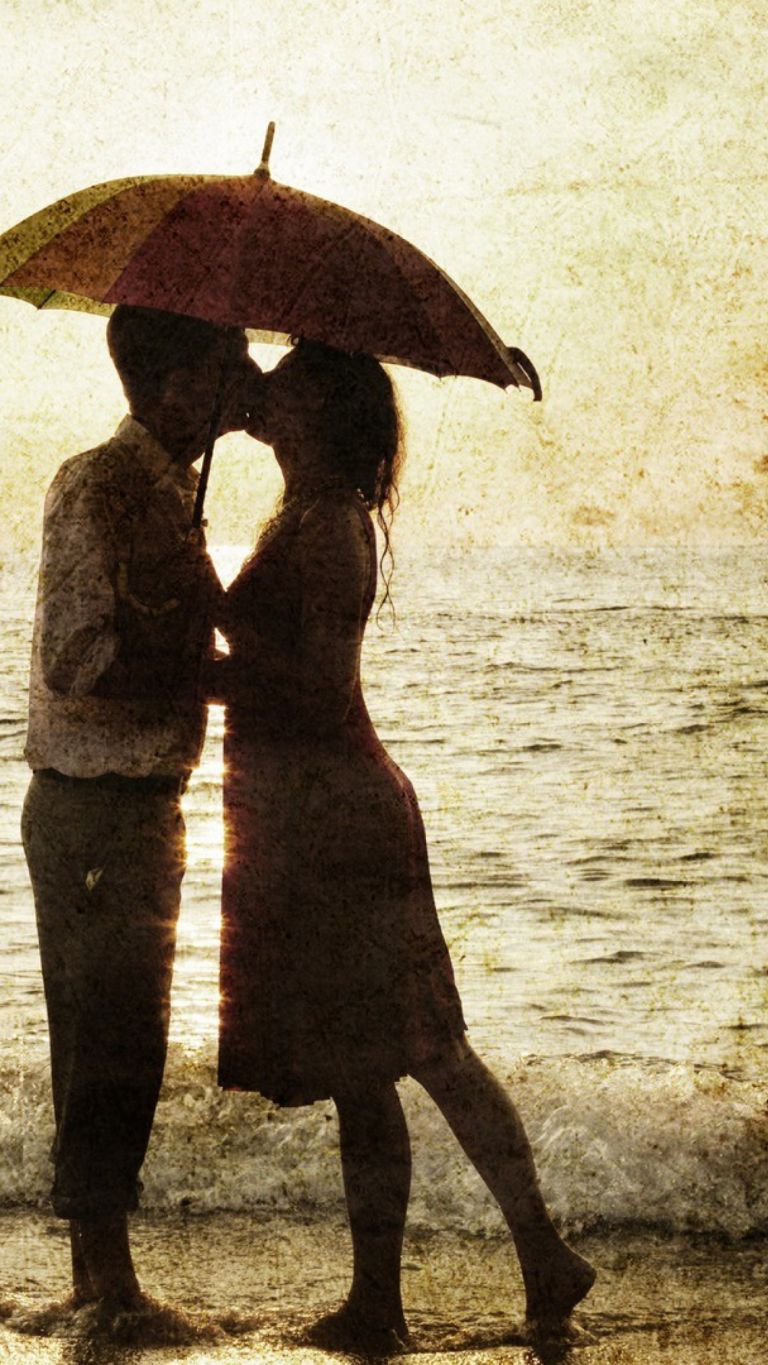 Поцелуй под дождем  № 3358152 без смс