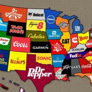 Us Brands Map - Obrázkek zdarma pro 208x208