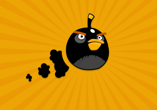 Black Angry Birds Wallpaper for Android, iPhone and iPad