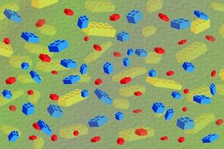Lego Bricks - Obrázkek zdarma pro Fullscreen 1152x864