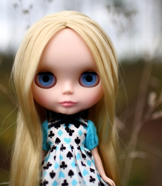 Blonde China Doll With Blue Eyes - Obrázkek zdarma pro Nokia Asha 308