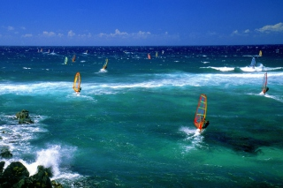 Windsurfers Wallpaper for Android, iPhone and iPad