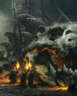 Skeleton Monk - Obrázkek zdarma pro 128x160