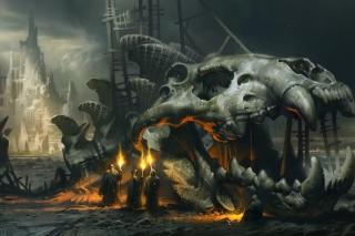 Skeleton Monk - Obrázkek zdarma pro Samsung Galaxy A