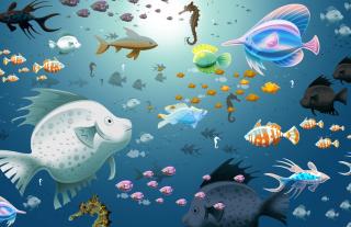 Virtual Fish Tank Aquarium sfondi gratuiti per cellulari Android, iPhone, iPad e desktop