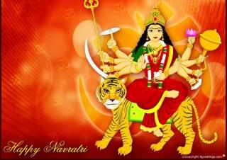 Maa Durga - Puja Avratri - Obrázkek zdarma pro Google Nexus 5