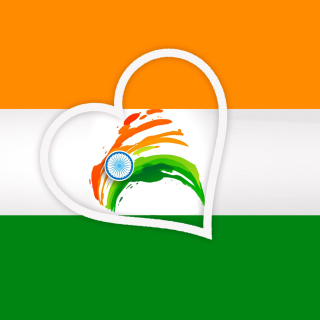 Happy Independence Day of India Flag - Obrázkek zdarma pro 320x320
