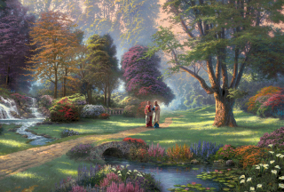Free Jesus Painting By Thomas Kinkade Picture for Android, iPhone and iPad