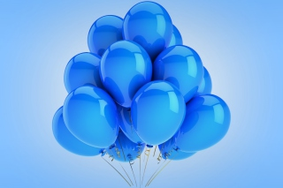 Blue Balloons Background for Android, iPhone and iPad