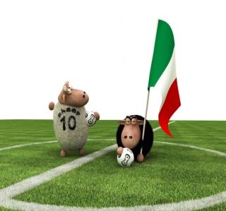 Sheep Playing Football - Obrázkek zdarma pro 208x208