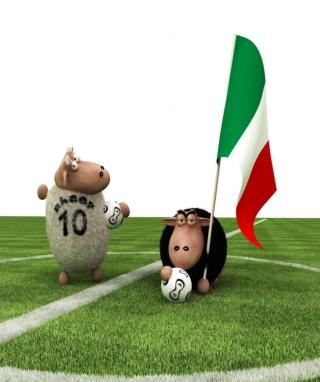 Sheep Playing Football - Obrázkek zdarma pro 320x480