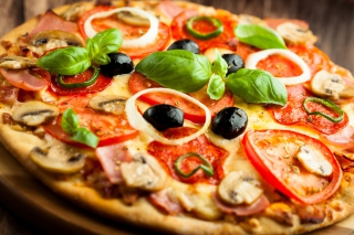 Tasty Pizza Background for Android, iPhone and iPad
